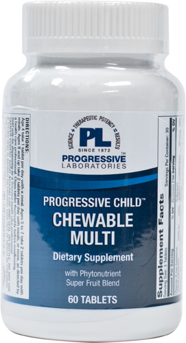 PROGRESSIVE CHILD CHEWABLE MULTI