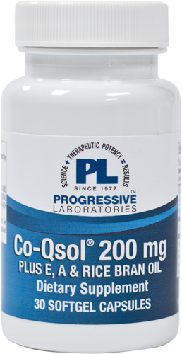 CO Qsol 200 MG Plus E, A & RICE BRAN OIL