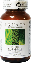 BIOMAX FOOD MULTI III with IRON & COPPER (180 ct)